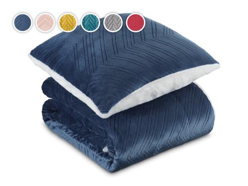 Набор одеяло и подушка Теплые объятия 2021